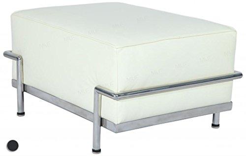 MLF® LC3 Ottoman/Stool in Top White/Cream Italian Leather (2 Colors) (Top Full Grain Leather Sofa)