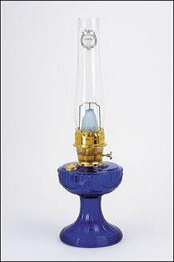 Aladdin Mantle Lamp Co. Lamp - C6177 Cobalt Lincoln Drape - Brass by Aladdin