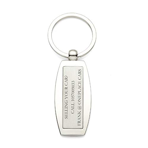 10-Pack Custom Engraved Advertising Promotional Keychains Bulk Buy by OnePlace Gifts (Abstract) ()