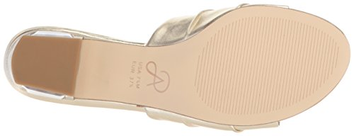 Tiana Leather Women's Gold Adrianna Sandal Papell pCFq66w7z