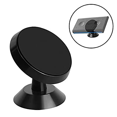 QveeQ Magnetic Car Mount for Echo Auto, 360 Rotation Bracket Stick on Holder Car Accessories, Universal Dashboard Car Mount with Adhesive Pad