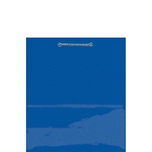 Amscan Royal Blue Solid Glossy Bag Medium |