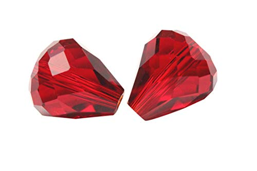 50pcs 12x10mm Adabele Austrian Teardrop Crystal Beads Siam Red Compatible with 5500 Swarovski Crystals Preciosa SST-1205