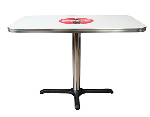 Vitro Seating Products BGA-125-2442 Coca-Cola Rectangle Dining Table, 24'' x 42'', Red and White by Vitro Seating Products