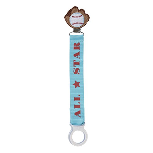 C.R. Gibson Pacifier Clip, By Baby Dumpling, Sure-Grip Clip Fastens Securely To Baby's Garment, Ribbon Measures 8.5