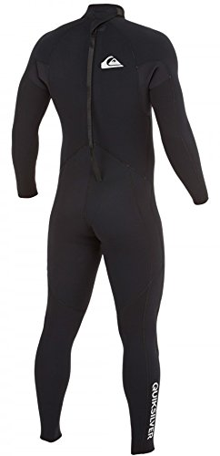 Quiksilver Mens 5/4/3mm Syncro Base Back Zip Full GBS Wetsuit, Black, 2X-Large