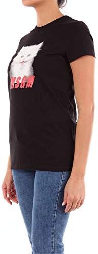 MSGM Luxury Fashion Donna 2741MDM92195797NERO Nero Cotone T-Shirt | Stagione Outlet