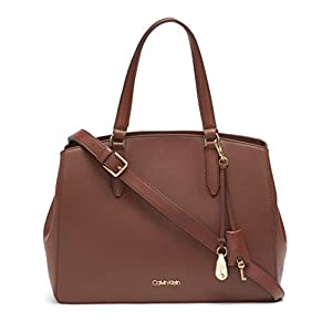 Calvin Klein Lock Daytona Leather Statement Satchel