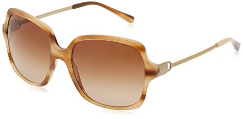 Blonde Horn - Michael Kors Women's Bia 0MK2053 56mm Blonde Horn/Brown Gradient Sunglasses