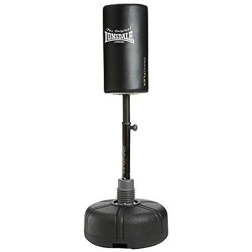 Lonsdale Unisex's Omniflex Free Standing Punch Bag-Black, One Size