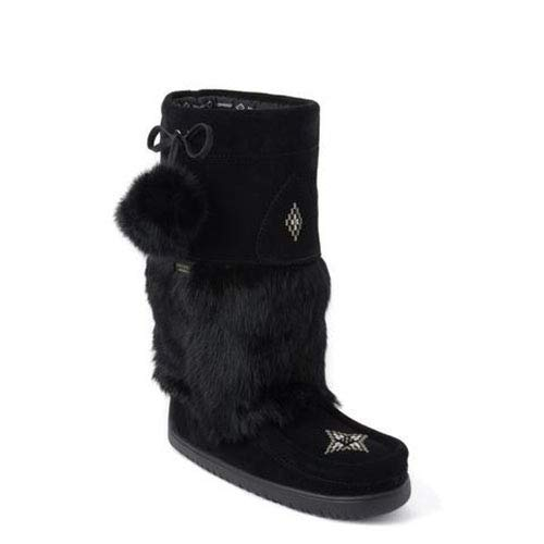 Manitobah Mukluk Boots Black Ladies Size 8