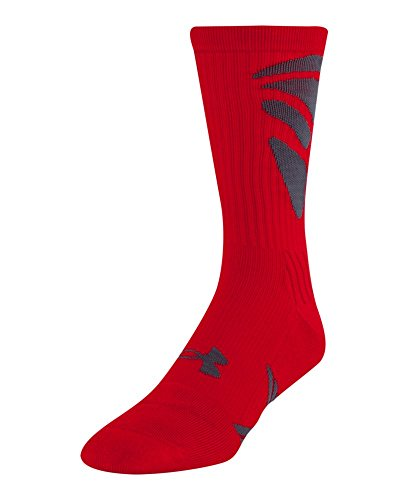 Under Armour Men's UA Army Of 11 Crew Socks Large Red