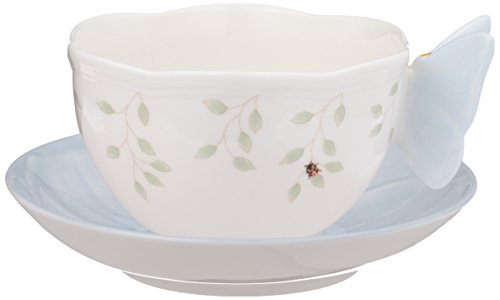 Lenox Butterfly Meadow Figural Cup and Saucer Set, (Lenox Blue Plate)
