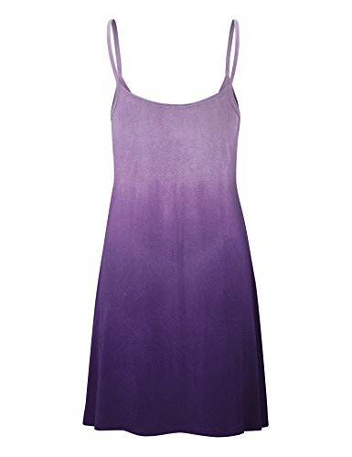 LL Short Wdr1139 purple Dress Strap V Love Tunic USA Neck Womens Spaghetti and Lock Made in gZazwqnBEW