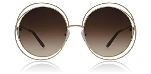 dea0b60893a1a Chloe CE114S 784 Rose Gold   Brown Carlina Round Sunglasses Lens Category 3  Siz - Buy Online in UAE.