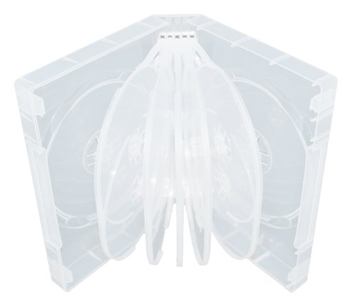 Mediaxpo Brand 10 Clear 12 Disc DVD Cases