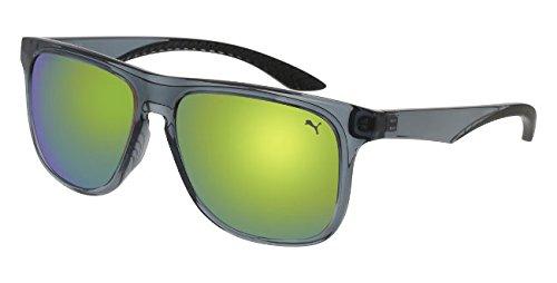 Puma PU0099S 002 Gafas de sol, Gris (Grey/Green), 55 para ...