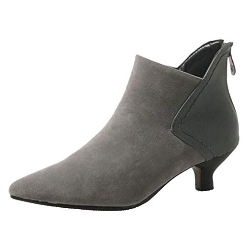 Smilice Women Ankle Chelsea Boots Grey