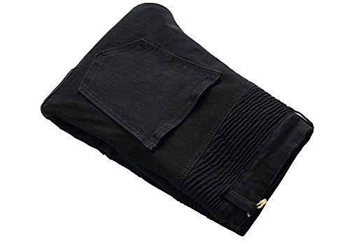 Cintura Versaces Bolsillo Ocio Corte Multi Color Jeans Media 2 Pantalones Heterosexual Ajustado Hombres Cremallera UU8qr5