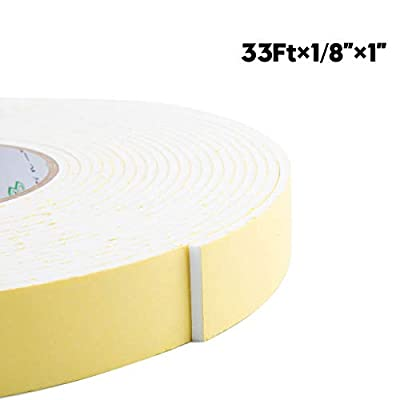 Foam Insulation Tape Adhesive Weather Stripping Craft Tape for Seal, Door, HVAC, Windows, Pipes