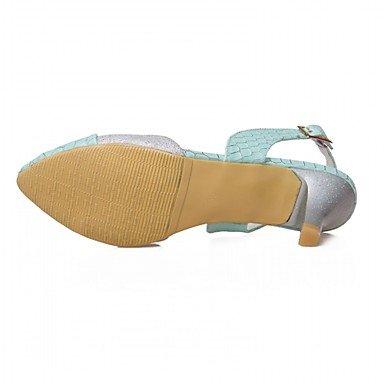 Chunky Casual Wedding 5 Fall Heels Novelty beige Comfort PU upRed amp; Walking ggx Beige Lace Summer Women's us5 kids LvYuan uk4 eu37 5 big Career Office Synthetic Leather Heel Patent wxPqTZB