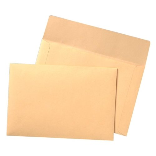 Wholesale CASE of 5 - Quality Park Flat File Envelopes-Flat Filing Envelope,40 lb,10''x14-3/4'',100 Count,Cameo Buff