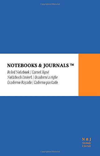 Notebooks & Journals, Large, Ruled, Blue, Soft Cover (5.5 x 8.5): (Classic Notebook, Journal, Sketchbook, Diary, Composition Notebook) PDF
