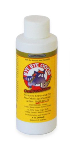 Bye Bye Odor 4oz Concentrate by Spalding (Stall Horse Bedding)