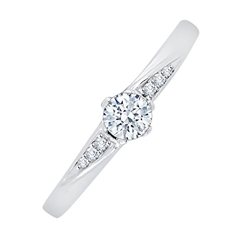 Diamond Promise Ring in Sterling Silver (1/4 cttw) (I-Color, SI3-I1 Clarity) (Size-7.5) by KATARINA