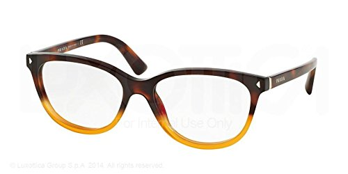 Prada Journal Eyeglasses PR14RV TKU1O1 Light Havana Gradient Yellow 52 16 - Glasses Prada Journal