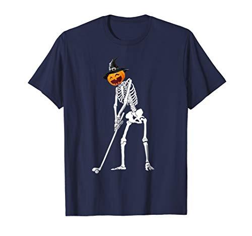 Golf Skeleton X Ray T-Shirt Golfer Pumpkin Head Witch Hat]()