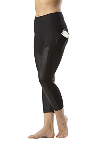 90 Degree By Reflex Women's High Waist Athletic Leggings with Smartphone Pocket - Blk - Medium