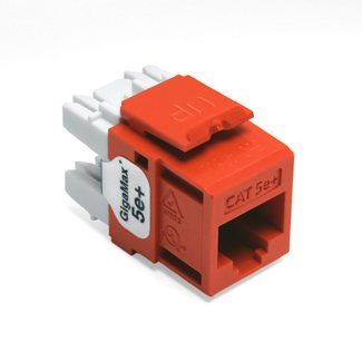 - Leviton Orange Quickport Cat 5e+ Jack Cat5e RJ45 5G110-RO5'). If your product i