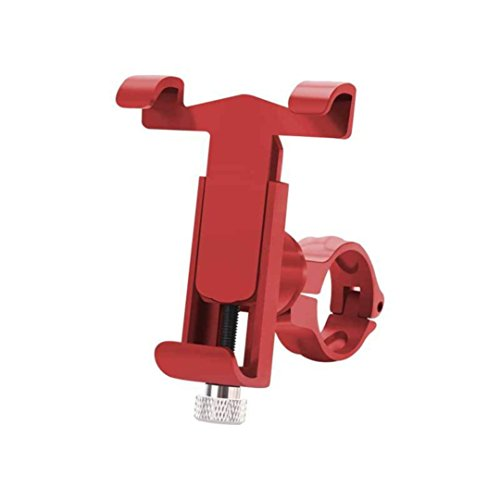 Dartphew Bike Accessories,360°Rotate Bicycle Bike Phone Mount Bracket Holder Clip Fashion Outdoor Durable Handlebar Phone Holder For Outdoor Hiking Camping Hunting (Red)