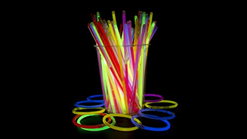 Crown 100 Count 22 inch. Glow Necklaces - Long Lasting Glow Light Sick Neon Necklaces for Parties and July -