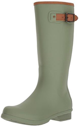 Chooka Women's Tall Memory Foam Rain Boot, Dark Sage, 8 M US (Rain Boots Womens Solid)