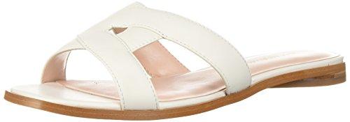 Avec Les Filles Women's Blaye Flat Sandal, Off White Nappa, 9 M US