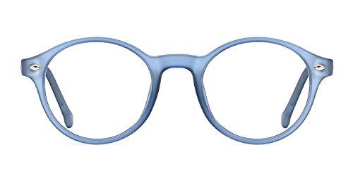 TIJN Men Women Classic Round Non-prescription Frosted Eyeglasses - Round Glasses Prescription Non