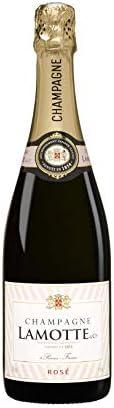 Champagne Rosé Francés Lamotte & Cie - 1 Botella 750 ml - Champagne Rosado Equilibrado con Burbujas Finas - Fabricado en Francia