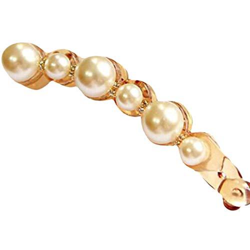 (Women Pearl Diamond Hair Clip Bobby Pin Hairband Hairpin Barrette Comb Accessory)
