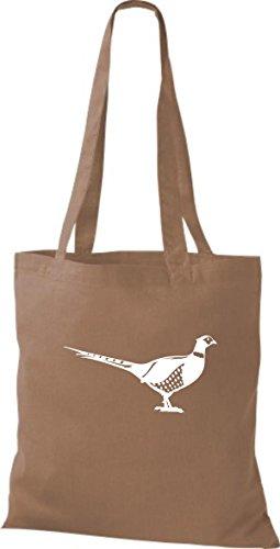 Shirtstown - Bolso de tela de algodón para mujer Marrón - marrón claro