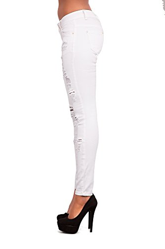 Donna White White White Jeans Jeans Lustychic Lustychic Donna Donna Ripped Ripped Jeans Lustychic Ripped Lustychic 5xtwBqSC7