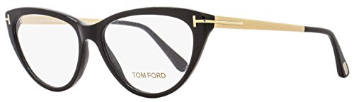 Tom Ford Cateye Eyeglasses TF5354 001 Size: 53mm Black/Gold FT5354 by Tom Ford