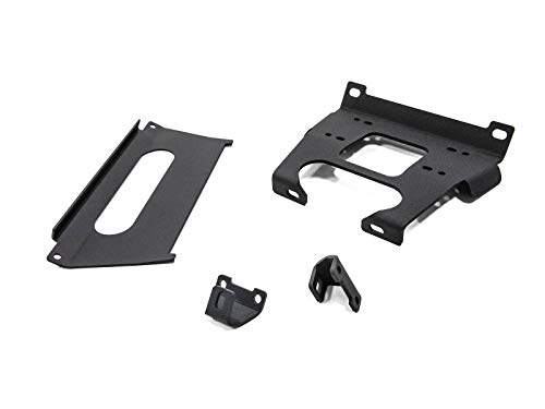 SuperATV Heavy Duty Winch Mounting Plate for Polaris RZR XP Turbo/Turbo 4 (2017-2018) - No Drilling ()