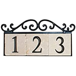 NACH KA-OLD WORLD-3 House Address/Number Sign Plaque