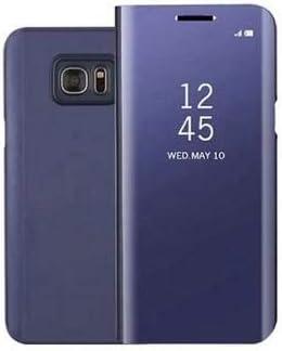 BCIT Samsung Galaxy S7 Edge Funda - Modelo Inteligente Fecha/Hora Ver Espejo Brillante tirón del Caso Duro con para el Samsung Galaxy S7 Edge - Púrpura: Amazon.es: Hogar