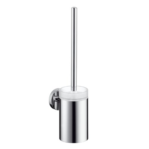 Hansgrohe 40522820 S and E Toilet Brush with Holder, Brushed (Croma 1 Jet)