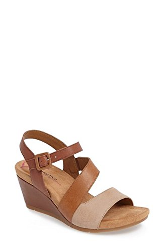 Comfortiva Violet Wedge Sandal, Size 10 W - Brown