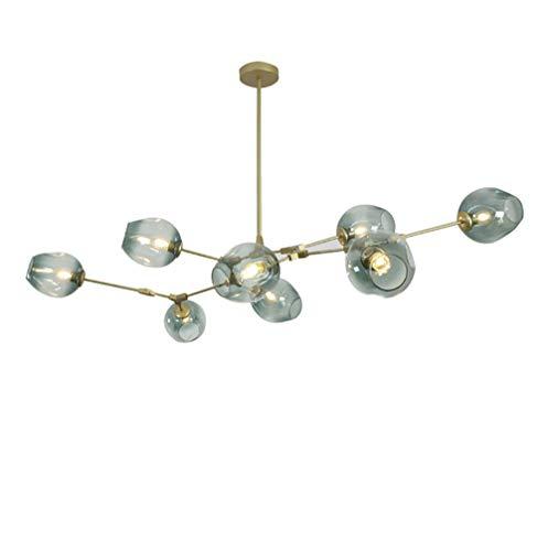 Chandelier Modern Light Eight (8-Light Modern Branch Bubbles Glass Chandelier Lighting Living Room Bedroom Dinning Hanging Lamps)