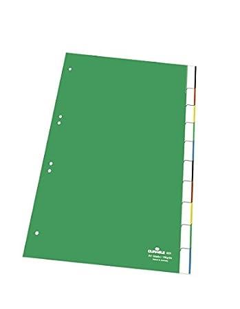 15-teilig Durable 622205 Register aus Kunststoff, mit blanko Taben gr/ün